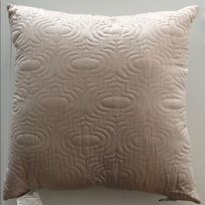 Other - NWT Ivory colored quilted pillow